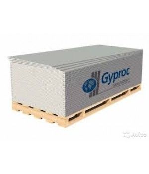 Gyproc ГКЛ простой 2500х1200х12,5 (50шт)