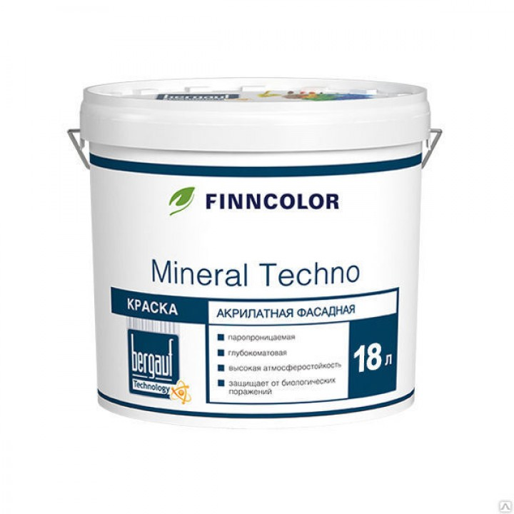Краска Finncolor Mineral Techno, База С, 18 л